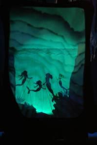 Jackie Kappes, Kelsey, Kathryn Stahl, and Sarah Carlson-Brown as the mermaids.
