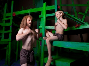 Ryan Heidenreich and Graham Waterstraat in Tarzan.