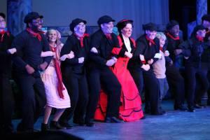 "The cast of Mary Poppins performing ""Step in Time"" at Quincy Community Theatre."