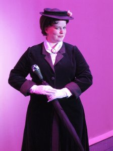 Me as the uncanny nanny herself in Mary Poppins.